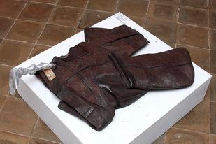 Killer-II by Nandkumar Yashwant Kulaye, Art Deco Sculpture   3D, Wood , Scrap and Metal, Brown color