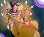 DURGA Digital Print by Sekhar Roy,Traditional