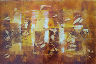 Untitled 4 by Jaiprakash Chouhan, Abstract Painting, Oil on Paper, Brown color