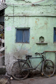 Green Bike by Nikhil Raj, Image Photography, Digital Print on Archival Paper, Gray color