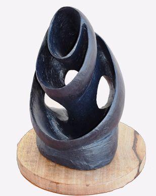 Wave of Motherhood by Aarti Gupta Bhadauria, Art Deco Sculpture | 3D, Terracotta, Gray color