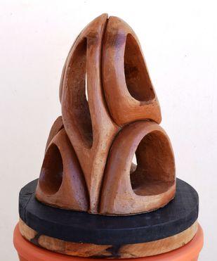 Wave of Hope by Aarti Gupta Bhadauria, Art Deco Sculpture | 3D, Terracotta, Brown color
