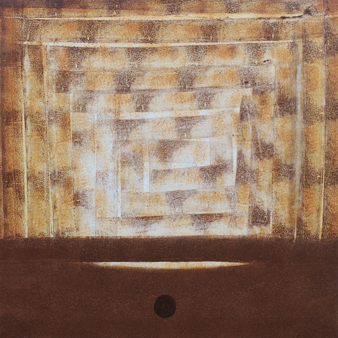 Untitled by Arpita Yogesh Pawar, Abstract Painting, Acrylic on Canvas, Brown color