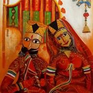 Raja rani acrylic on canvas