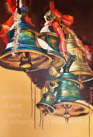 Sounds of Divinity Digital Print by Anukta Mukherjee Ghosh,Expressionism
