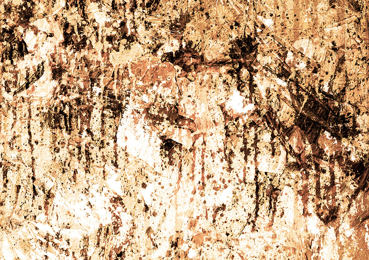Abstract-II by Mayurakshi, Abstract Digital Art, Mixed Media on Canvas, Beige color