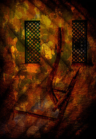 Abstract-I by Biswajit Majumder, Digital Digital Art, Mixed Media on Canvas, Brown color