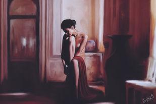 Isolation by Sujay Govindaraj, Digital Digital Art, Digital Print on Archival Paper, Brown color