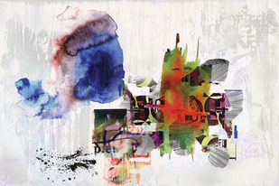 Untitled by Sunil Balkawade, Abstract Painting, Mixed Media on Canvas, Gray color