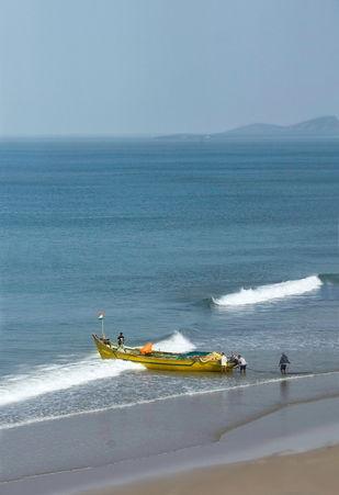 Gokarna Beach by ramnath, Image Photography, Digital Print on Paper, Cyan color
