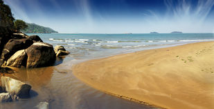 Karwar Beach by ramnath, Image Photography, Digital Print on Paper, Brown color