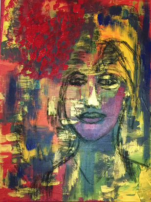 Witness the life by Geetu Navin Kalani, Abstract Painting, Mixed Media on Canvas, Brown color