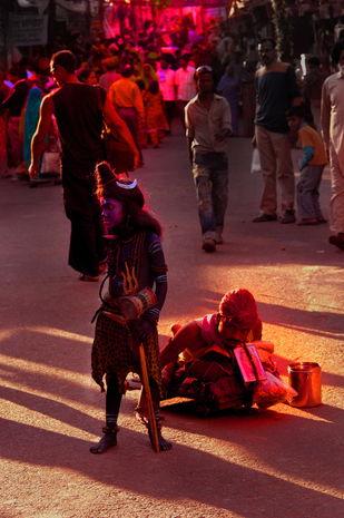 Good send by Karan Khanna, Image Photography, Oil on Canvas, Brown color