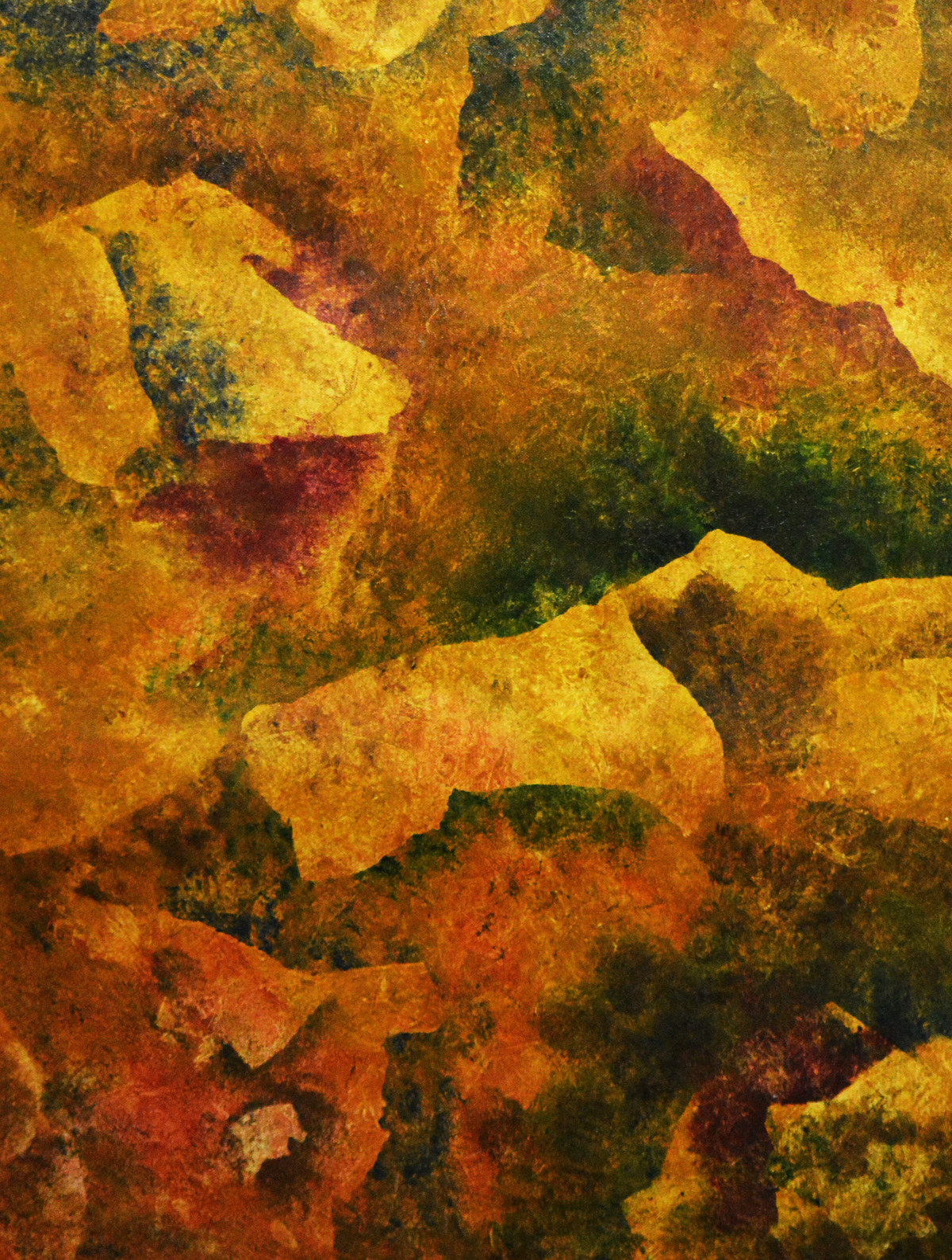 CAPER by Mudit Rastogi, Abstract Painting, Oil on Canvas, Brown color