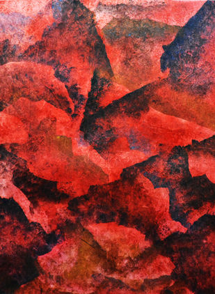 WHORL by Mudit Rastogi, Abstract Painting, Oil on Canvas, Pink color