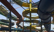 WATERPARKS_1 by Isha Gahlot, Impressionism Photography, Digital Print on Archival Paper, Gray color
