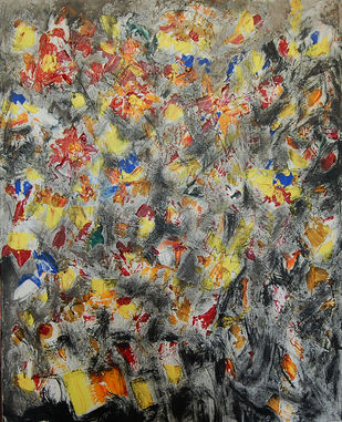 ABSTRACT LANDSCAPE by Chandana khan, Abstract Painting, Acrylic on Canvas, Brown color