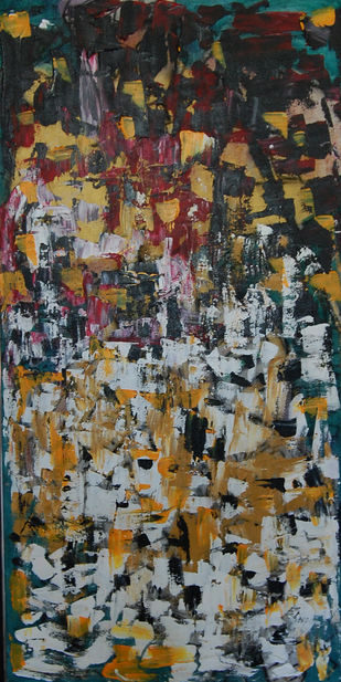 ABSTRACT LANDSCAPE 2 by Chandana khan, Abstract Painting, Acrylic on Canvas, Brown color