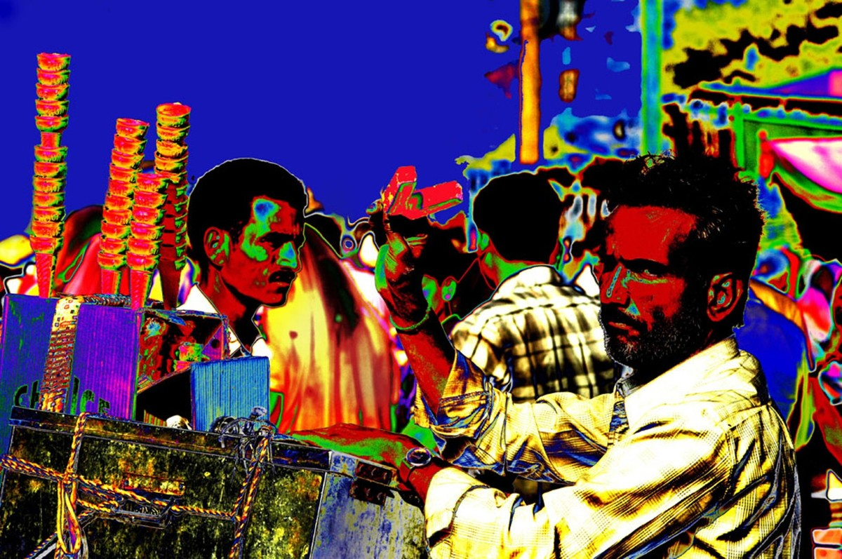 Untitled by Karan Khanna, Image Photography, Digital Print on Archival Paper, Blue color