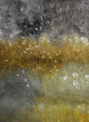 Effervesence by Mudit Rastogi, Abstract Painting, Oil on Canvas, Brown color