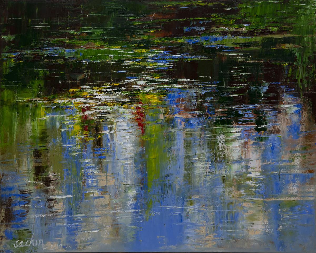 reflections Digital Print by Sachin Upadhye,Expressionism