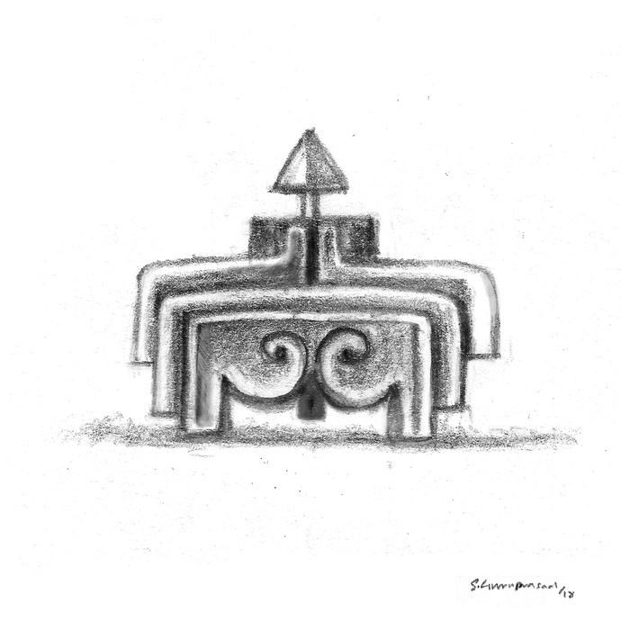 Arrow 02 by KS Guruprasad, Illustration Drawing, Digital Print on Archival Paper, White color