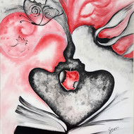 Story of adam   eve 2   acrylic on canvas   24x28 inch