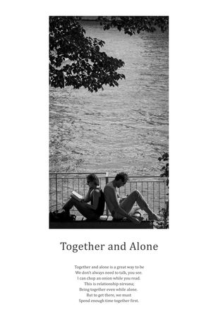 Together and Alone by Berny & Philip, Image Photography, Print on Paper, Gray color