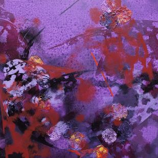 colours of life by Asif sharief Shaikh, Abstract Painting, Acrylic on Canvas, Purple color
