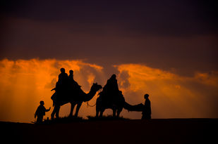 Towards the destination by Ravindra Kumar Tanwar, Image Photography, Digital Print on Archival Paper, Brown color