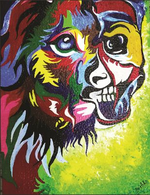 Dual Personality by Surbhi Varma, Pop Art Painting, Acrylic on Board, Brown color