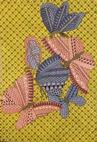 Busy Butterflies by Aarthavi, Illustration Drawing, Pen & Ink on Paper,