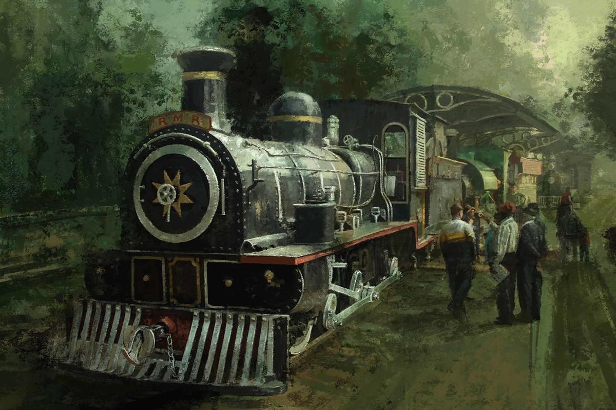 Journey by Train Digital Print by The Print Studio,Digital