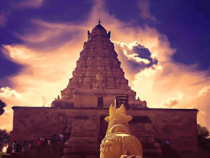Temple Gopuram By The Print Studio