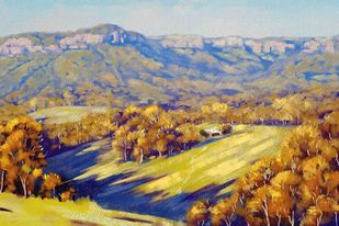 Sunlit Landscape Digital Print by The Print Studio,Digital