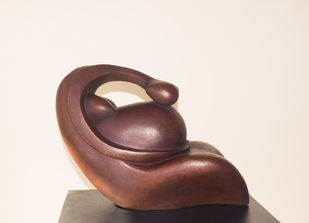 Inner Voice by Rajendra Pradhan, Art Deco Sculpture | 3D, Bronze, Beige color