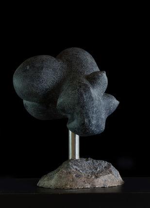 Pregnant Torso by Rajendra Pradhan, Art Deco Sculpture | 3D, Clay & Resin, Black color