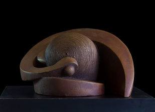 Spiral of life by Rajendra Pradhan, Art Deco Sculpture | 3D, Bronze, Black color