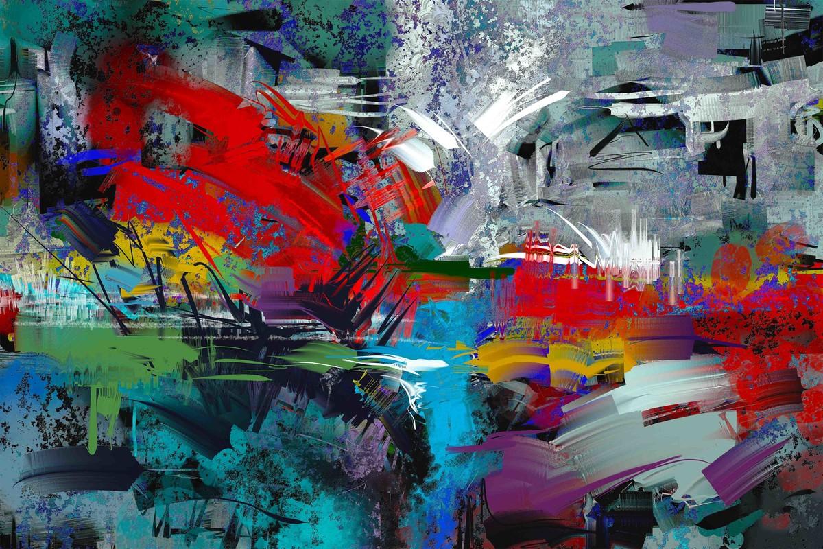 Greenish Grey - 13 Digital Print by The Print Studio,Abstract