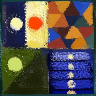 Abstract 67 Digital Print by The Print Studio,Geometrical