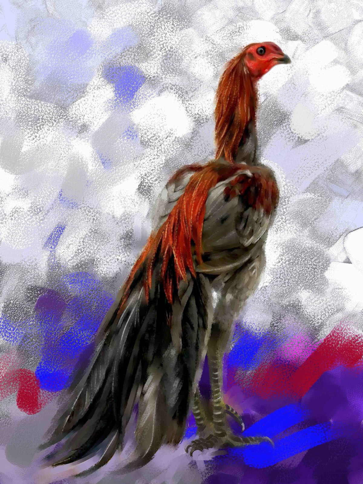 Rooster - 24 Digital Print by The Print Studio,Expressionism