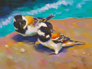 Shore Birds Digital Print by The Print Studio,Expressionism