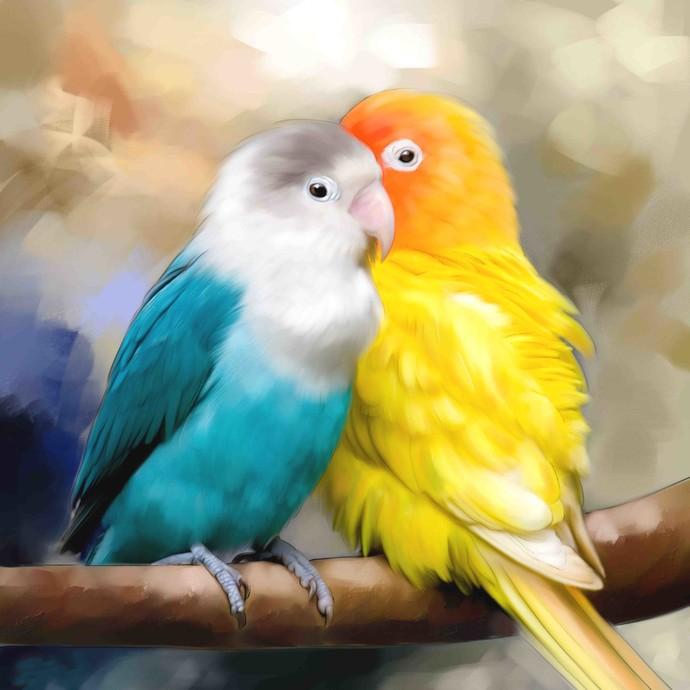 TWO BIRDS-25 Digital Print by The Print Studio,Realism