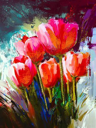 Tulip - 13 Digital Print by The Print Studio,Digital