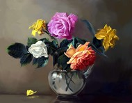 Still Life with Flowers - 24 Digital Print by The Print Studio,Impressionism