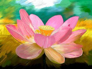 Lotus - 55 Digital Print by The Print Studio,Digital