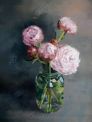 Still Life with Flowers - 56 Digital Print by The Print Studio,Digital