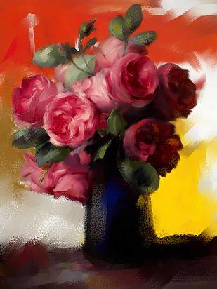 Still Life with Flowers - 66 Digital Print by The Print Studio,Digital