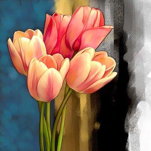 tulip - 69 Digital Print by The Print Studio,Digital