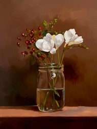 Still Life with Flowers - 72 Digital Print by The Print Studio,Realism